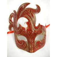 China MASKS RED Warrior Prince Men Venetian Mardi Gras Prom Masquerade Mask on sale