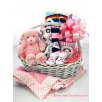 Wholesale Baby Gift Baskets Welcome New Baby Girl Gift Basket from china suppliers