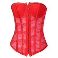 Buy cheap Red Sexy Lace Strapless Corset,T8151-2 from Wholesalers