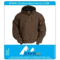Buy cheap Work Clothing Washed Hooded Jacket from Wholesalers