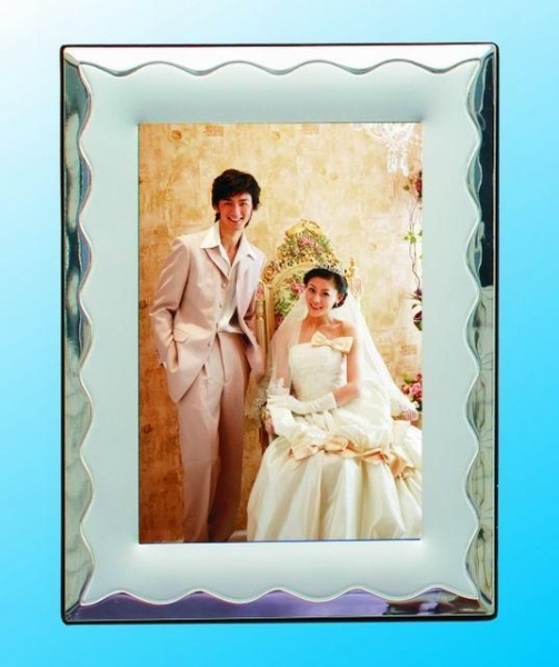 Quality Generous wedding silver plated photo frame(328ASS29) for sale