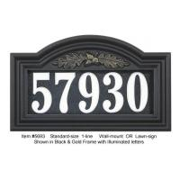 Buy cheap Illuminated Oakleaf Arch House Number from Wholesalers