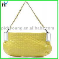 PU Handbags Latest lovely girl's yellow handbags match with everything,retail!