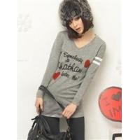Buy cheap B8233# fashionable cute long sleeve T-shirt from wholesalers