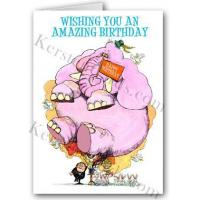 Wholesale Greeting Cards Funny Elephant Birthday Card from china suppliers