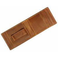 China - Leather Money Clip Wallets on sale