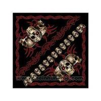 Wholesale Tribal Skull - Preprinted motorcycle design bandanna. from china suppliers