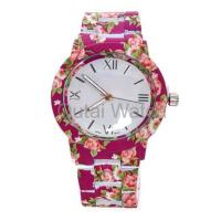 Wholesale flower printed alloy lady watch from china suppliers