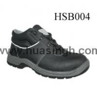Wholesale Hotselling Product black leather safety work shoes with white reflective strip from china suppliers