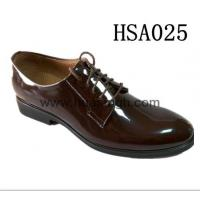 Buy cheap Showcase Product Brown leather men officer shoes from wholesalers