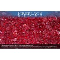 China Fireplace Glass Crystals Ruby Red Crystal Diamond Fireplace Glass on sale
