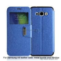 Wholesale Samsung A8 leather case with metal buckle from china suppliers