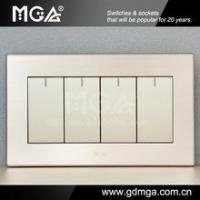 Buy cheap Big button modern electric switch & household electric switch & 4 gang 1 way wall switch from wholesalers