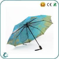 Buy cheap 2015 new design windproof 3 fold umbrella map printing fold umbrella from Wholesalers