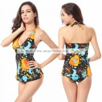Wholesale Ladies Tankini Top Removable padding Traditional Sexy girls Tankini Swimwear(TD001) from china suppliers