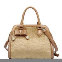 Wholesale Girl Leather Fur Bowknot Satchel Purse Camel from china suppliers