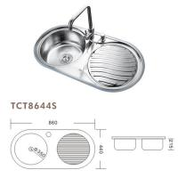 Wholesale TCT8644S 860*440MM TOPMOUNT OR UNDERMOUNT STAINLESS STEEL SINK SETS from china suppliers