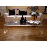 modern design U-shaped acrylic coffee table