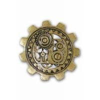 Buy cheap Steampumk Bronze Large Gear Brooch from Wholesalers