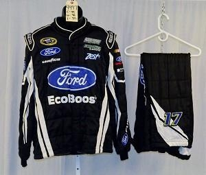 Quality Ricky Stenhouse Sparco Ford EcoBoost SFI5 NASCAR Racing Suit #4497 44/36/32 for sale