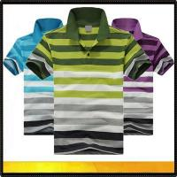 Wholesale Polo shirts Men's stripe cotton polo tshirt from china suppliers