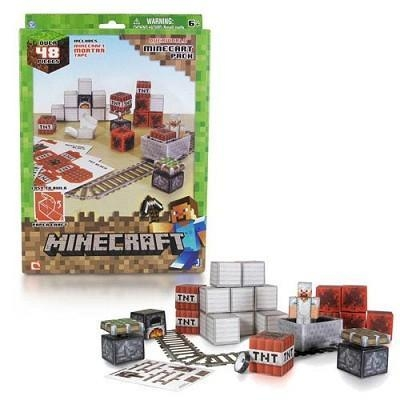 Quality Minecraft Papercraft Minecart 48 Piece set for sale