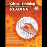 China Critical Thinking: Test-taking Practice for Reading Grade 4 Book on sale