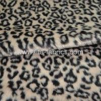 Buy cheap panther print faux fur pv plush fabric from wholesalers
