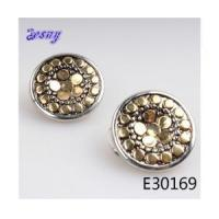 Wholesale Fashion men's silver earrings coins balls stud earring E30169 from china suppliers
