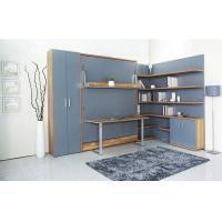 Wholesale MDF With Melamine Modern Wall Bed With Bookshelf And Table For Home And Hotel from china suppliers