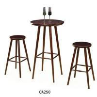 Wholesale Unique design bar furniture Wooden bar stool Round chair Bar table for sale CA250 from china suppliers