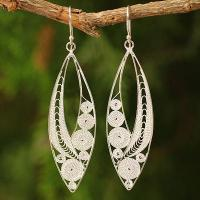 Wholesale Sterling Silver Filigree Earrings, 'Tendrils' from china suppliers