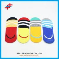 Wholesale 2016 Fashion Boys Invisible Colorful Stripe Socks from china suppliers