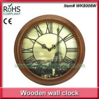 Woodpecker antique art clock luxury wooden wall clock 3D clock