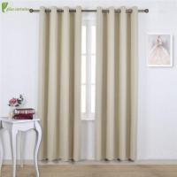 Wholesale Beige Grommet Blackout Window Treatment Curtains from china suppliers