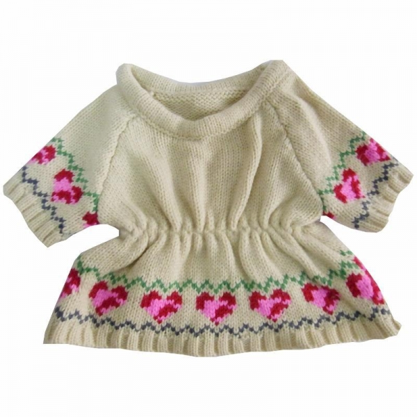 teddy bear sweater knit pattern of greengrassknitting