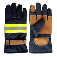 Khaki Nomex Firefighter Gloves