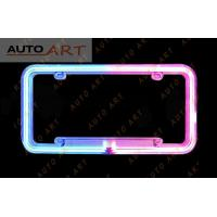 Wholesale Neon Tube License Plate Frame blue from china suppliers