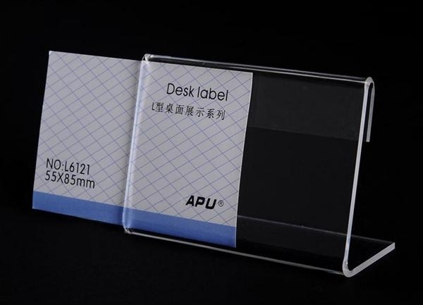Quality High Transparency Acrylic Desk Label for sale