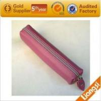 Wholesale leather zipper pen case from china suppliers