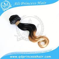 Factory wholesale good feedback European human remy virgin hair weave ombre color 1B/613#