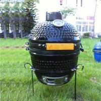 Buy cheap Portable mini ceramic black kamado pizza oven from wholesalers