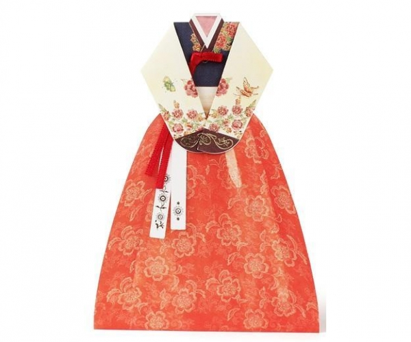 Quality Hand made Hanbok Card - 3 for sale