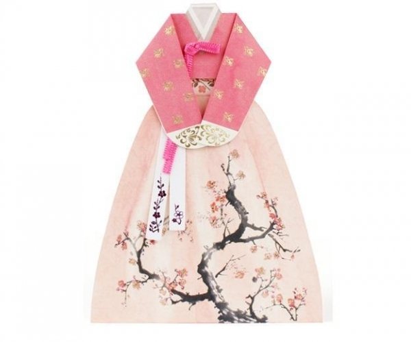 Quality Hand made Hanbok Card - 4 for sale