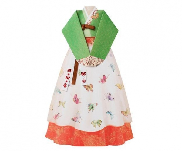 Quality Hand made Hanbok Card - 2 for sale