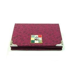 Quality Silk Business Card Case - Wine for sale
