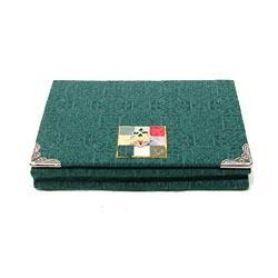 Quality Silk Business Card Case - Dark Green for sale