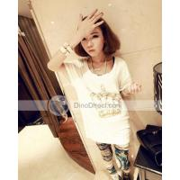 Wholesale Omiel Round Neck Beading Crown Pattern Short Sleeve Woman T Shirts from china suppliers