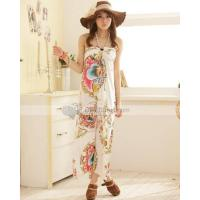 Wholesale Doclin One Piece Halter Meryl Casual Slim Printing Women Beach Dress from china suppliers