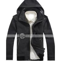 Wholesale Xuque Fashion Hooded Zipper Closer Wool Mens Overcoat from china suppliers